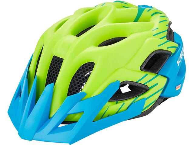 KED Status Jr. Helmet Barn green blue matt
